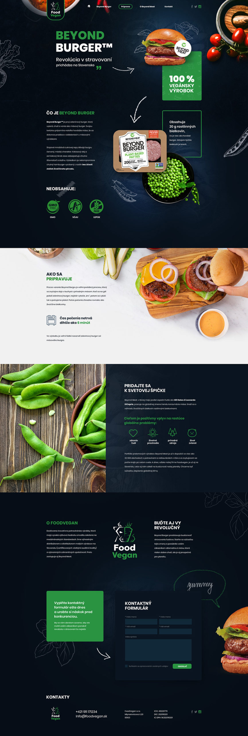 FoodVegan - Web design